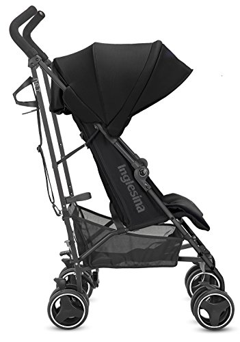 41cJBl3mgaL - Inglesina Net Stroller - Lightweight Summer Travel Stroller - UPF 50+ Protection Canopy With Removable And Washable Seat Pad {Black}