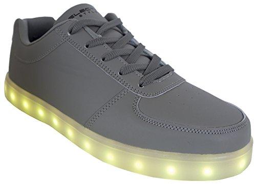 Elektrische Stijlen Verlichten Schoenen Door Grijs