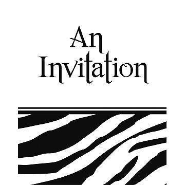3M Creative Converting Animal Print Party Invitations, Zebra, 8 Count ()