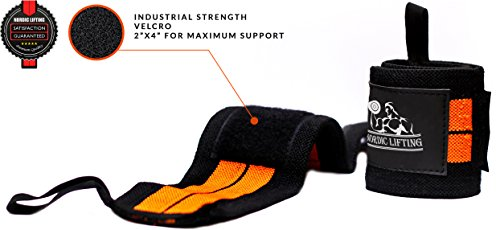 Wrist Wraps (1 Pair/2 Wraps) for Weightlifting/Cross Training/Powerlifting/Bodybuilding For Women & Men Premium Quality Equipment for the Absolutely Best Hand Strength & Support 1 Year Warranty
