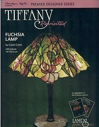 TIFFANY REVISITED - FUCHSIA Stained Glass Lamp Pattern Book