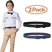 Kids Nickel Free Adjustable Elastic Belts for Pants Children Stretch Belts for Boys and Girls by JASGOOD
