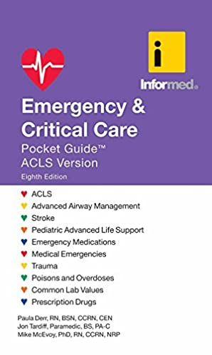 emergency critical care pocket guide 9781284023701 medicine rh amazon com emergency & critical care pocket guide acls version 7th edition ACLS Book Guide