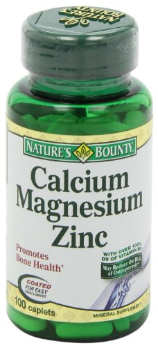 Nature's Bounty Calcium Carbonate Pills with Magnesium and Zinc Mineral Supplement, Supports Bone Strength and Health, 1000mg, 100 Caplets by Nature's Bounty (Image #9)