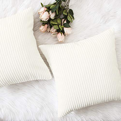 (HOME BRILLIANT 2 Packs Mothers Day Decoration Cute Pillows Nursing Pillow Cover Pillow Cases Decorative, 16x16 inches, 40x40 cm, Creamy White)