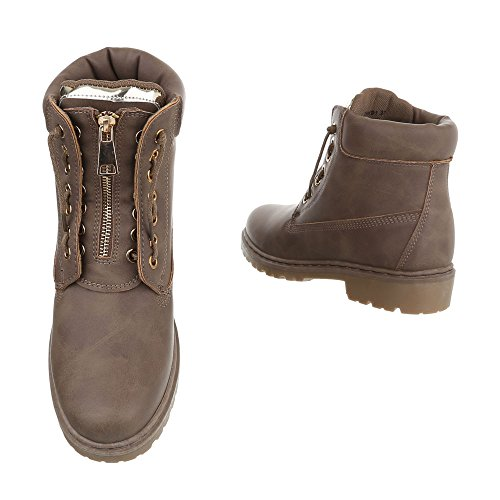 Women's Combat Ital Boots Light Design Brown 7qwAAUP6