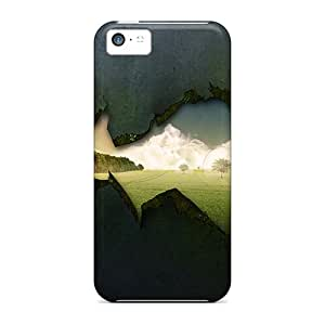 Cute Appearance Cover/tpu JDbnwOK4676mBPmt See Through Wall Case For Iphone 5c