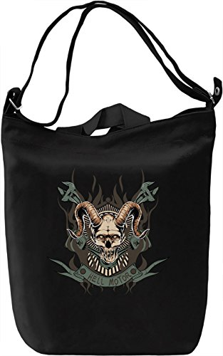 Hell motor Borsa Giornaliera Canvas Canvas Day Bag| 100% Premium Cotton Canvas| DTG Printing|