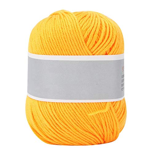 Pssopp Milk Cotton Thread Colorful Baby Milk Cotton Yarn Soft Chunky Baby Milk Cotton Crochet Knitwear DIY Hand Knitting Yarn Mulit-Colorful Optional(Golden) (Very Thick Yarn)
