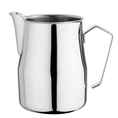 Motta Stainless Steel Frothing Pitcher with Europa Rounded Spout, 8.5 (Espresso Latte Art)