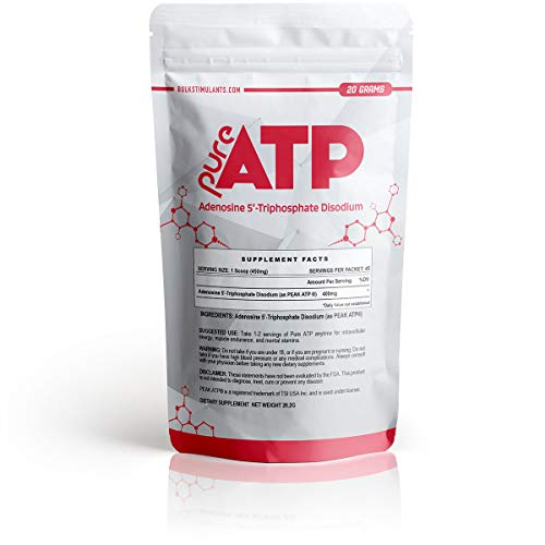 Pure ATP: Adenosine Triphosphate Powder   Intracellular Energy   Brain and Muscle Endurance   20 Grams