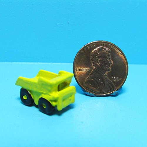 Dollhouse Miniature Toy Yellow Dump Truck MUL - My Mini Fairy Garden Dollhouse Accessories for Outdoor or House Decor Toy Dump Display
