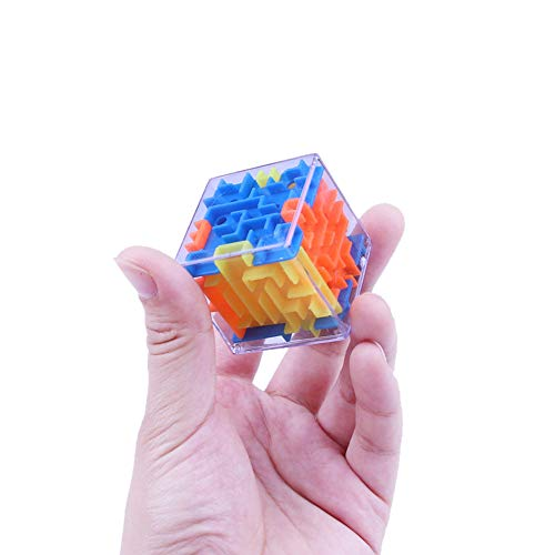 Wenini 3D Cube Puzzle Toy - New 3D Cube Puzzle Maze Toy Hand Game Case Box Fun Brain Game Challenge Fidget Toys (Multicolor) by Wenini (Image #4)