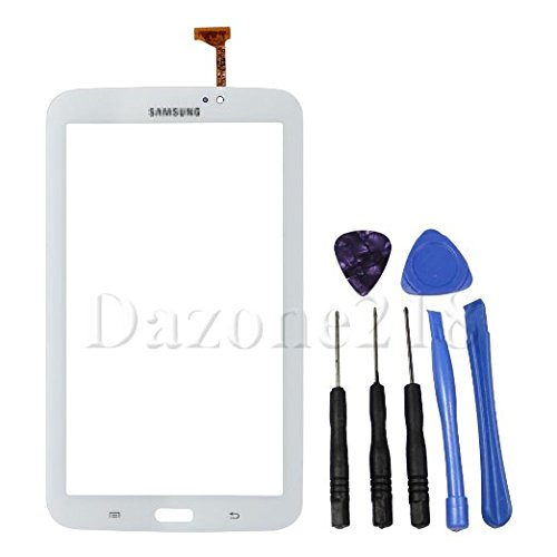DAZONE 7.0 Touch Screen Digitizer For Samsung Galaxy Tab 3 3G WIFI T210R T210 T210L T211 T217A + 7 Tools(White) (Touch Screen For Tab 3)