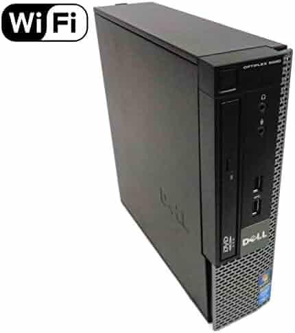 Dell Optiplex 9020 Small Form Business Desktop Tower PC (Intel Quad Core i7 4770, 16GB Ram, 240GB Brand New SSD, WIFI, Dual Monitor Support HDMI + VGA, DVD-RW, WIFI) Win 10 Pro (Renewed)