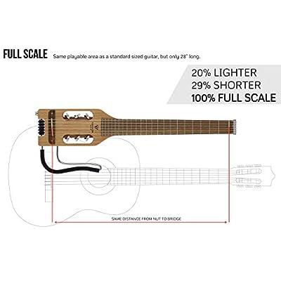 Traveler Guitar 6 String Classical Guitar, Right, Mahogany (ULN MHSBW): Musical Instruments