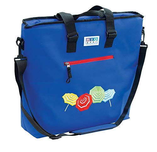 Rio Gear Deluxe Insulated Cooler Tote Bag with Bottle Opener - Blue ()