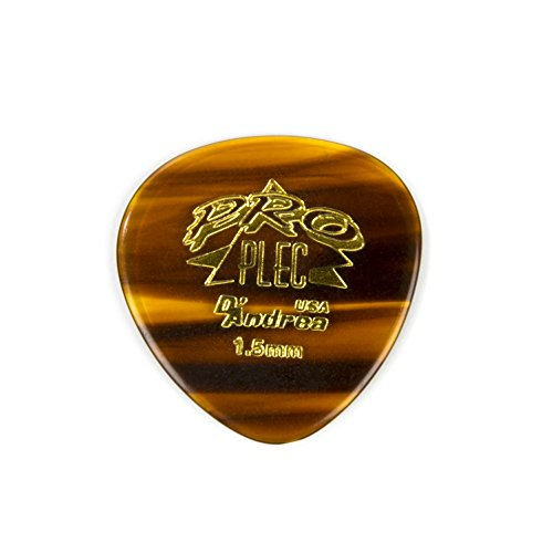 (D'Andrea PRO-385 Pro Plec 1.5mm Guitar Pick with Shell Finish (12 Piece, Large Round) )