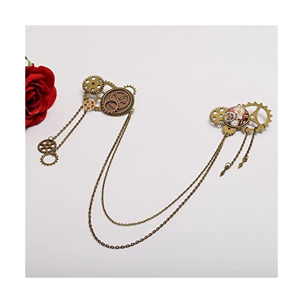 BLESSUME Unisex Steampunk Brooch Lapel Pin 5