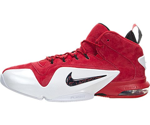- NIKE Men's Zoom Penny Vi University Red/Black-White High-Top Basketball Shoe - 12M
