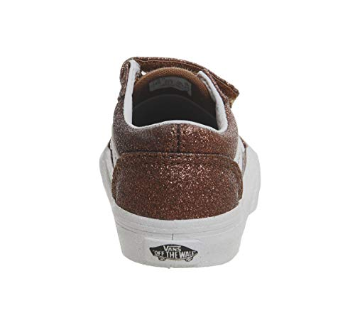 aeac7814dd286c Vans TD Old Skool V Bronze Glitter Infant Trainers