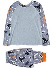Halloween tema pyjamas set familj pyjamas matchande set långärmad sovkläder lång byxa för män kvinnor barn sovande klänning