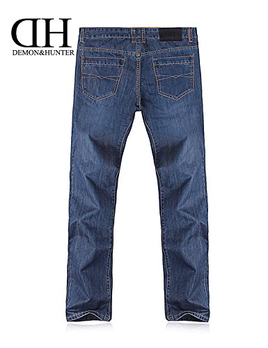 Vaqueros Dh8009 Demon X 809 Hombre Jeans Fit amp;Hunter Azul Pantalones Loose Relaxed Series Ancho X aavr0FR