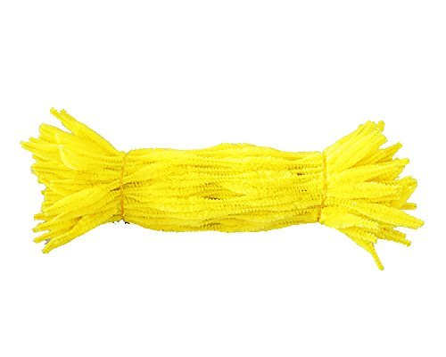 Caryko Fuzzy Bump Chenille Stems Pipe Cleaners, (Yellow) by Caryko