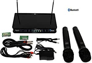 hisonic hs236 bluetooth vhf handheld wireless microphone system portable and. Black Bedroom Furniture Sets. Home Design Ideas