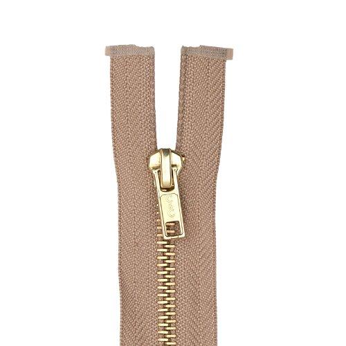 Coats & Clark Heavy Weight Brass Separating Zipper 24in Dogwood