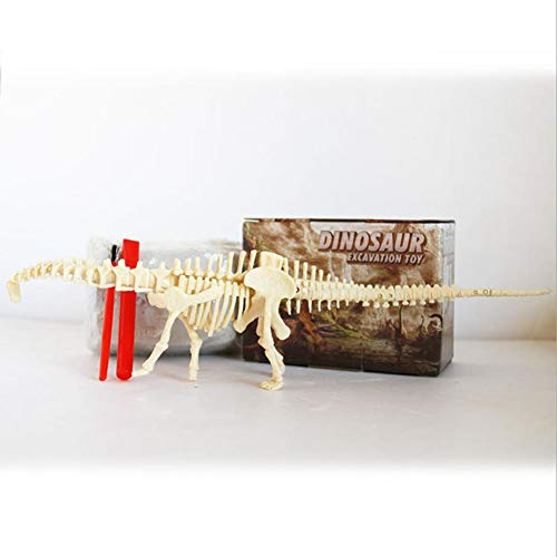 Assembling dinosaur skeleton archaeological excavation toy simulation fossil museum science and education DIY triangle dragon, tyrannosaurus, Lianglong model handmade theme park activity gifts,Brown (Graphite Dragon)