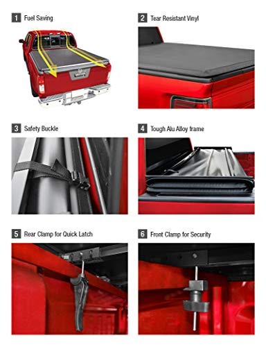 MaxMate Tri-Fold Truck Bed Tonneau Cover works with 2002-2018 Dodge Ram 1500; 2003-2018 Dodge Ram 2500 3500   Fleetside 6.5' Bed   For models without Ram Box