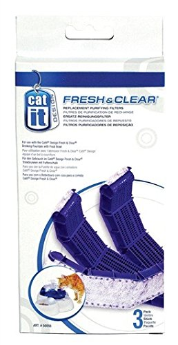 Catit Cat Drinking Fountain (Catit Drinking Fountain Replacement Carbon Filter Cartridge for Fresh & Clear Drinking Fountain - 3-Pack)