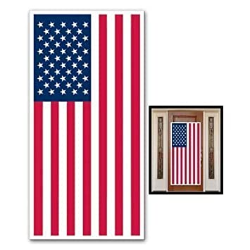 Usa Flag Door Cover Banner Patriotic Party Decorations Decor 4th Of July Indoor Outdoor 30 X 60 Barbecue Cookout Parties