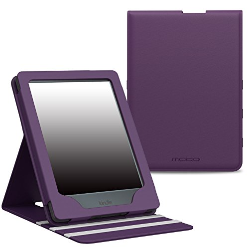 MoKo Case for Kindle E-reader (8th Generation 2016) - Premium Vertical Flip Cover with Auto Wake/Sleep for Amazon Kindle (6'' Display, 8th Gen 2016 Release), PURPLE by MoKo