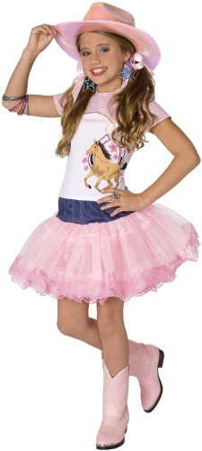 Dance Cowgirl Costumes - Planet Pop Star Cowgirl 3pc Girls Costume Pink Small (4-6)