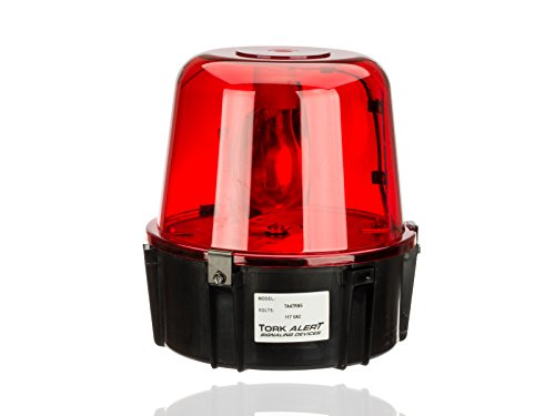 All Purpose 360 Degrees Rotating Beacon, Warning Light, 117VAC, For Security Intrusion, Red by NSI