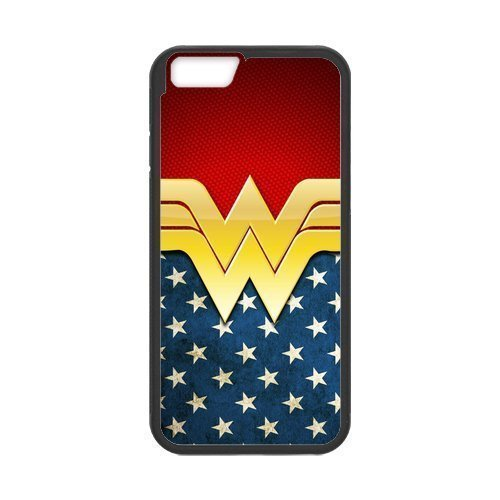 "LeonardCustom Protective Hard Rubber Coated Phone Case Cover for iPhone 6 4.7"", Wonder Woman -LCI6U265"