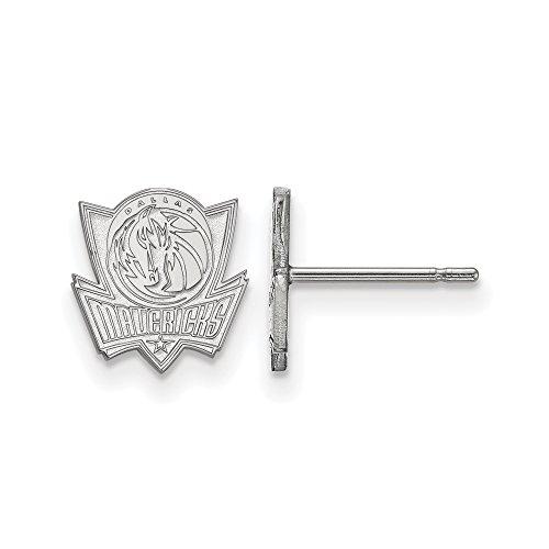 LogoArt NBA Dallas Mavericks X-Small Post Earrings in Sterling Silver by LogoArt
