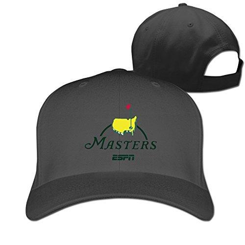 Amazon.com  Adult Masters Golf Logo Adjustable Fashion Peak Baseball Cap Hat  Black (6264532327781)  Books ba31d1cc825
