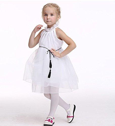 Blanc En Filles Enfants Les Pour Princesse Organza Sans Style Acvip Robe Manche ZcqwvUq5