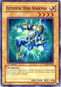 YUGIOH Elemental Hero Sparkman TLM-EN004 1st Edition