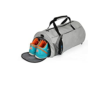 IX Fitness Sport Small Gym Bag with Shoes Compartment Waterproof Travel Duffel Bag for Women and Men