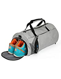 Fitness Sport Small Gym Bag with Shoes Compartment Waterproof Travel Duffel Bag for Women and Men