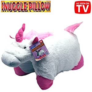 Animal Snuggle Pillows : Amazon.com: Unicorn Snuggle Pillow White Pink Pillow Pet 18