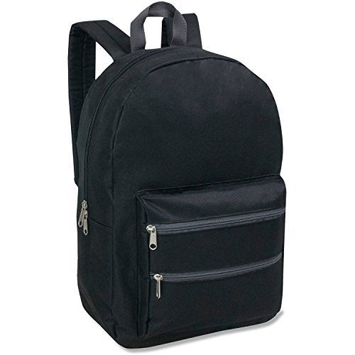 Full Size Dome Backpack With Double Zippered Pocket 17 Inch - Dome Backpack