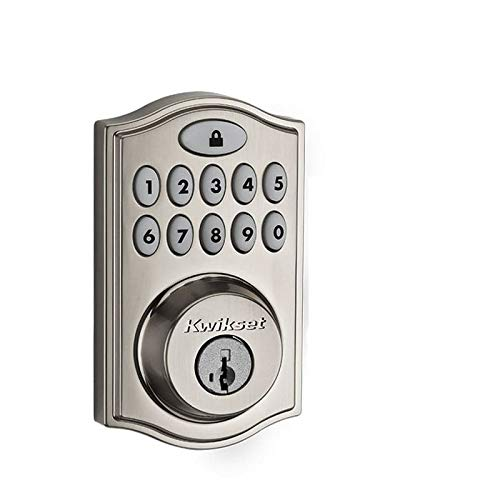 Kwikset 99140-002 914 Z-Wave SmartCode Electronic UL Deadbolt, Featuring SmartKey in Satin Nickel, Works with Alexa via SmartThings, Wink, or Iris