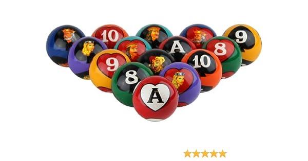 Crown Games Inc Poker Bolas de Billar: Amazon.es: Deportes y aire libre