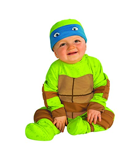 3 Family Costumes (Rubie's Costume Baby's Teenage Mutant Ninja Turtles Animated Series Baby Costume, Multi, 0-6 Months)