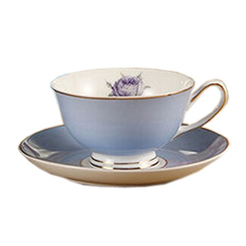 Elegant Coffee Cup Beautiful Gold Line Cafe/Home-Use Tea Cup TEAL